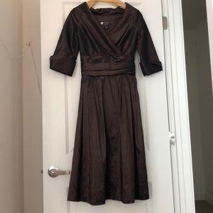 Brown boutique midi dress